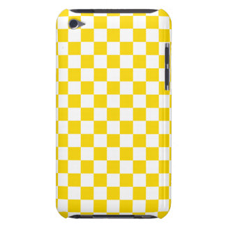Funda Para iPod Tablero de damas amarillo