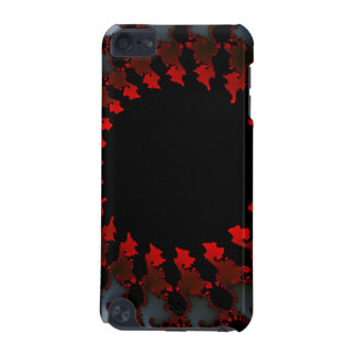 Funda Para iPod Touch 5 Blanco negro rojo del fractal