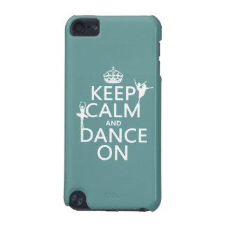 Funda Para iPod Touch 5 Guarde la calma y baile en (ballet) (todos los