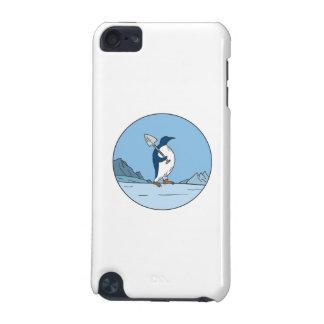 Funda Para iPod Touch 5 Línea del círculo de Antartica de la pala del