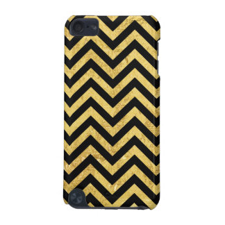 Funda Para iPod Touch 5 Negro y modelo de Chevron de las rayas del zigzag