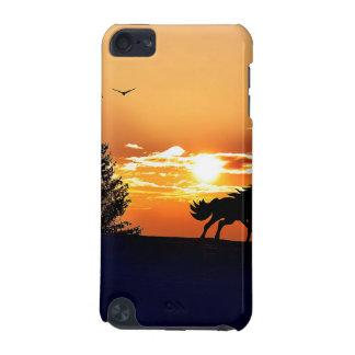 Funda Para iPod Touch 5G caballo corriente - caballo de la puesta del sol -