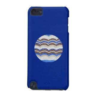 Funda Para iPod Touch 5G Caja azul redonda del tacto 5g de iPod del mosaico