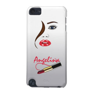 Funda Para iPod Touch 5G Cara y lápiz labial del artista de maquillaje en