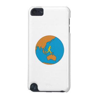 Funda Para iPod Touch 5G Corredor de maratón que corre alrededor del mundo