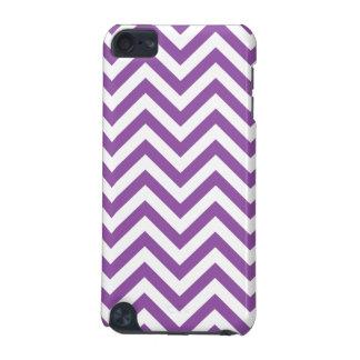 Funda Para iPod Touch 5G El zigzag púrpura y blanco raya el modelo de