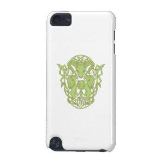 Funda Para iPod Touch 5G Nudo del Celtic del escudo de armas del árbol del