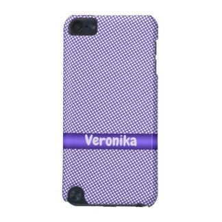 Funda Para iPod Touch 5G Pequeño modelo violeta de la tela escocesa