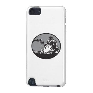 Funda Para iPod Touch 5G Taza de la hoguera del campista de grabar en