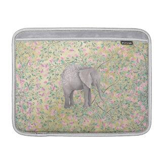 Funda Para MacBook Air Brillo del oro de las flores del elefante de la