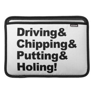 Funda Para MacBook Air Driving&Chipping&Putting&Holing (negro)