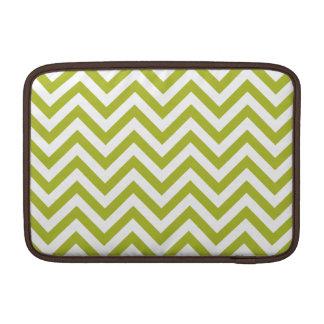 Funda Para MacBook Air El zigzag verde y blanco raya el modelo de Chevron