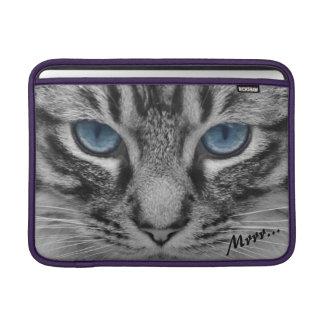 Funda Para MacBook Air Gato serio con el personalizable azul de Eys