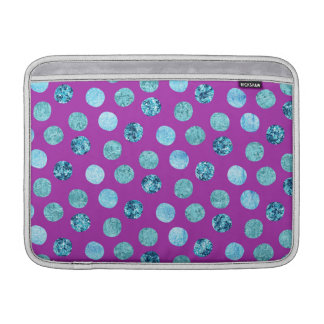 Funda Para MacBook Air Lunares del hielo del invierno púrpuras