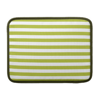 Funda Para MacBook Air Modelo verde y blanco de la raya