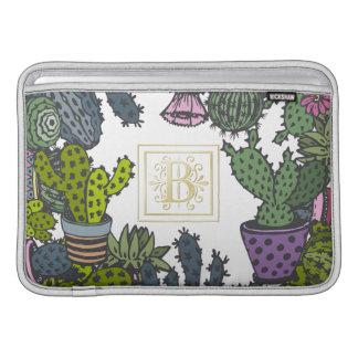 Funda Para MacBook Air Monograma B del cactus