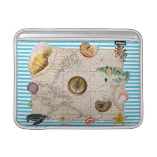 Funda Para MacBook Air Rayas azules del tesoro marino