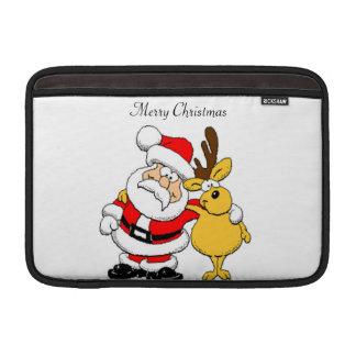 Funda Para MacBook Air Santa y reno