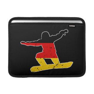 Funda Para MacBook Air SNOWBOARDER alemán de la bandera (blanco)