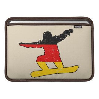 Funda Para MacBook Air SNOWBOARDER alemán de la bandera (negro)