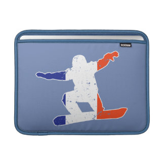 Funda Para MacBook Air SNOWBOARDER tricolor francés (blanco)