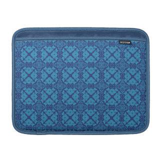 Funda Para MacBook Azul floral geométrico del vintage en azul