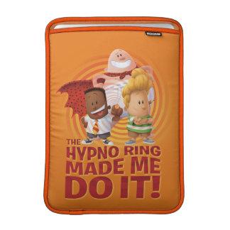 Funda Para MacBook Capitán Underpants el   el anillo de Hypno hizo