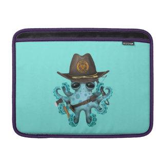 Funda Para MacBook Cazador del zombi del pulpo del bebé azul