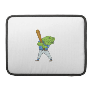 Funda Para MacBook Dibujo animado del bateo del jugador de béisbol de