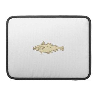 Funda Para MacBook Dibujo de los pescados de bacalao atlántico