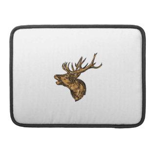 Funda Para MacBook Dibujo principal del rugido del macho del ciervo