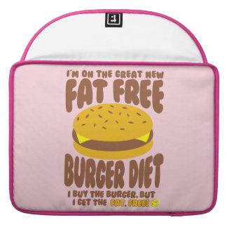 Funda Para MacBook Dieta sin grasa de la hamburguesa