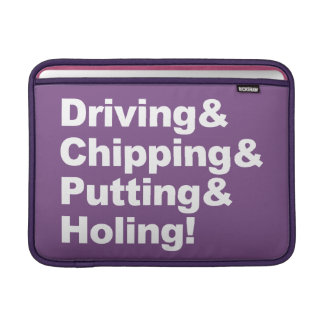 Funda Para MacBook Driving&Chipping&Putting&Holing (blanco)