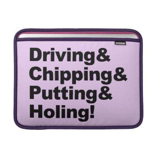 Funda Para MacBook Driving&Chipping&Putting&Holing (negro)