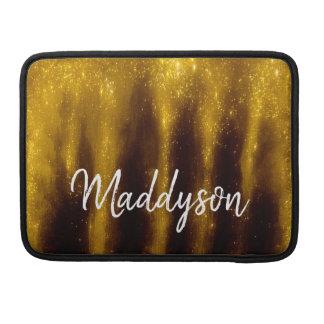 Funda Para MacBook Falsa pintura y purpurina del oro en negro