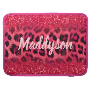 Funda Para MacBook Falsos puntos rosados del leopardo del purpurina