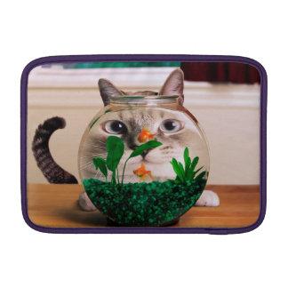 Funda Para MacBook Gato y pescados - gato - gatos divertidos - gato
