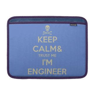 Funda Para MacBook Guarde la calma y confíe en que yo es ingeniero