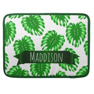 Funda Para MacBook Hoja tropical del verde adolescente para mujer de