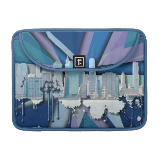 Funda Para MacBook Horizonte el | 3D azul de New York City