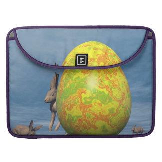 Funda Para MacBook Huevo y liebres de Pascua - 3D rinden