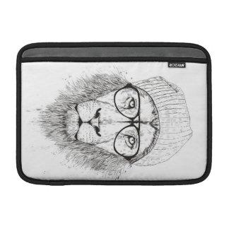 Funda Para MacBook León fresco (blanco y negro)