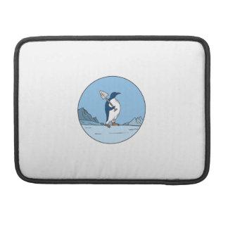 Funda Para MacBook Línea del círculo de Antartica de la pala del