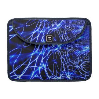 Funda Para MacBook Líneas azules de la energía, flash del azul de la