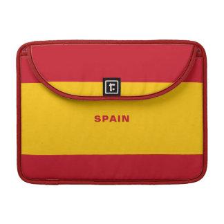 Funda Para MacBook Manga de MacBook de la bandera de España favorable
