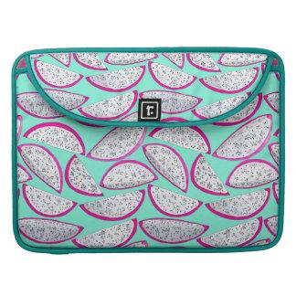 Funda Para MacBook Modelo de la fruta del dragón en fondo verde