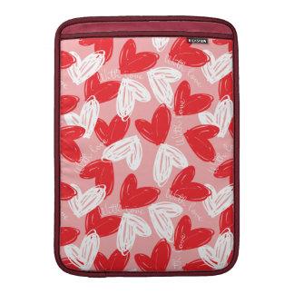 Funda Para MacBook Modelo rojo y blanco moderno lindo de los