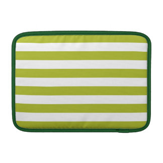 Funda Para MacBook Modelo verde y blanco de la raya
