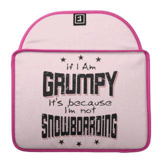 Funda Para MacBook No SNOWBOARD GRUÑONA (negro)