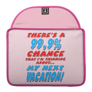 Funda Para MacBook Pro 99,9% Las VACACIONES PRÓXIMAS (negro)
